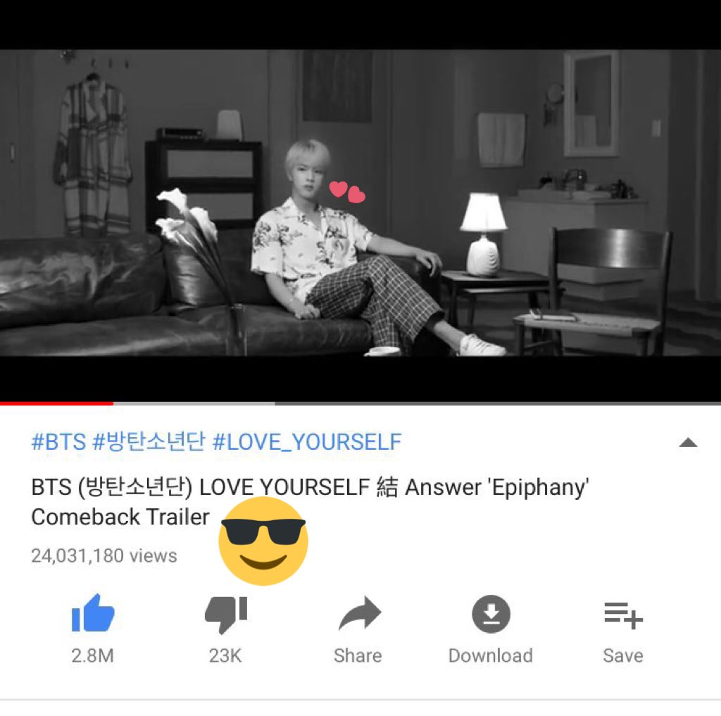 OH BTW,  Congratulations on 24M! We made it. Now, road to another million   #Epiphany  #김석진 #진 #석진 #JIN #BTS #방탄소년단 @BTS_twt<br>http://pic.twitter.com/1TZRqbz1Sl