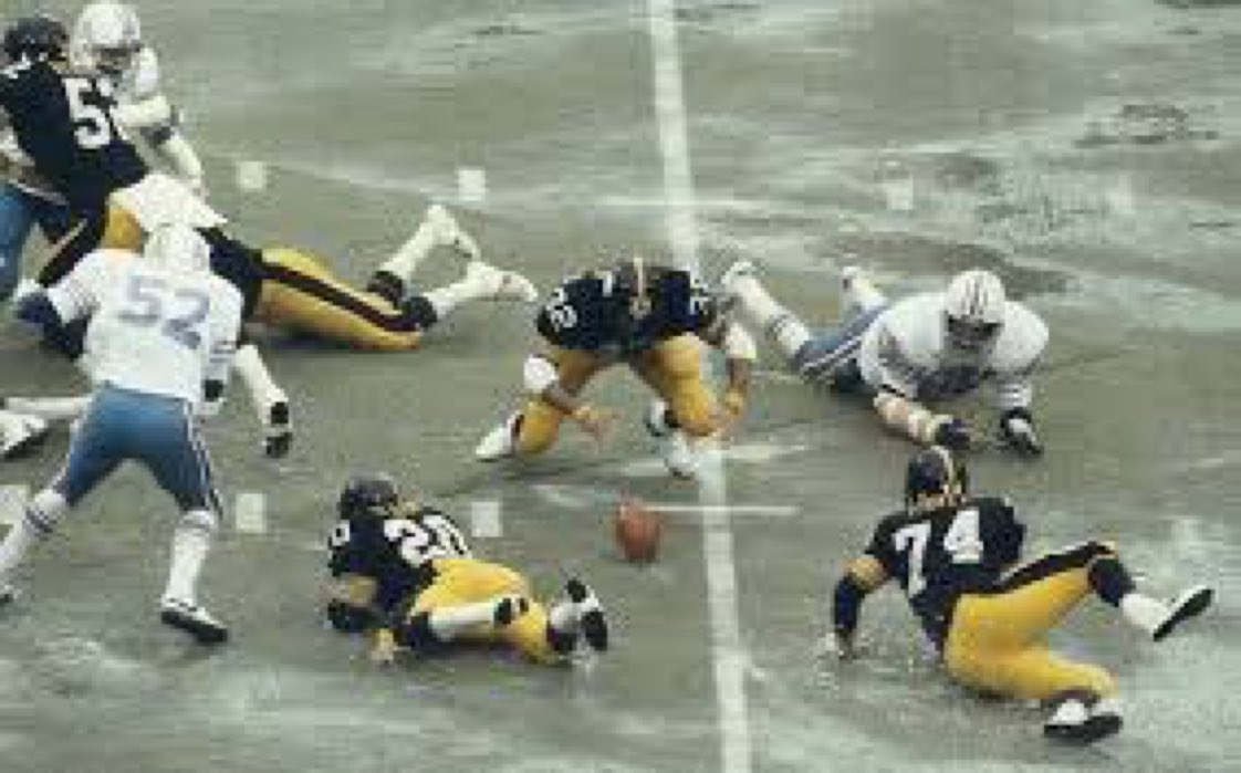How many of you remember when the 1978 AFC championship game was played on the world's largest Slip 'N Slide?