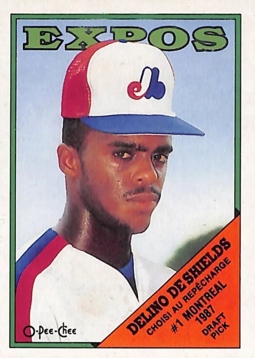 Delino DeShields signed with Montreal in 1987 after they met his contract demand of the 'tallest goddamn hat ever.'