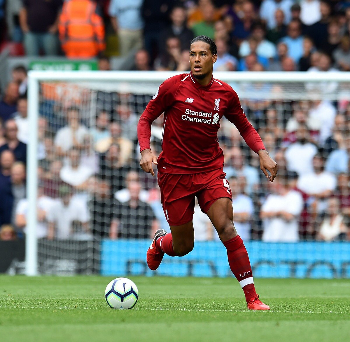 @VirgilvDijk since joining @LFC:   Kept the most clean sheets in the @PremierLeague.   @LFC not conceded a @PremierLeague goal at Anfield since February.   @LFC not conceded a goal this season.   What. A. Signing.<br>http://pic.twitter.com/aXCwdAVsr7