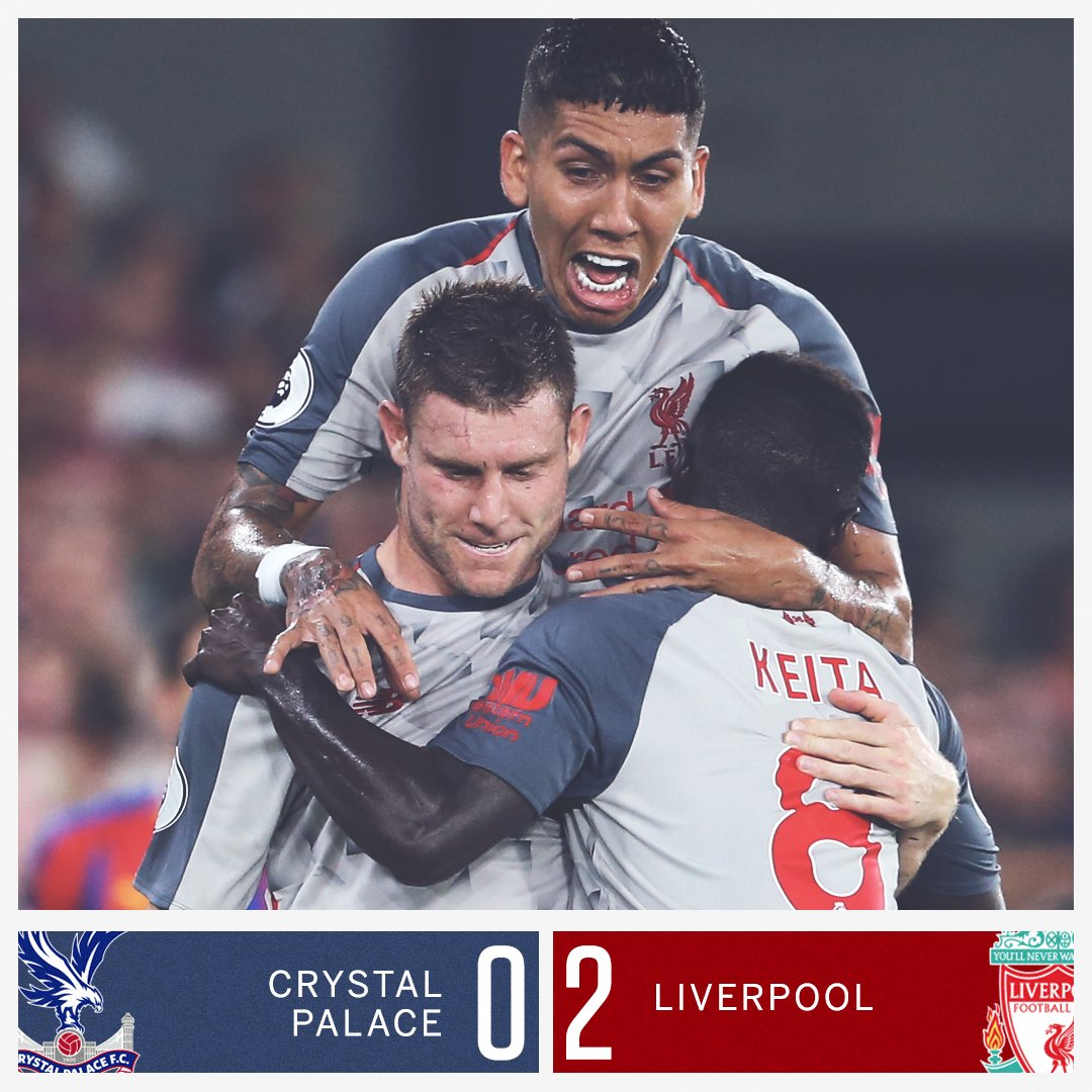 A James Milner penalty and a late Sadio Mane goal give Liverpool a win over 10-man Crystal Palace!