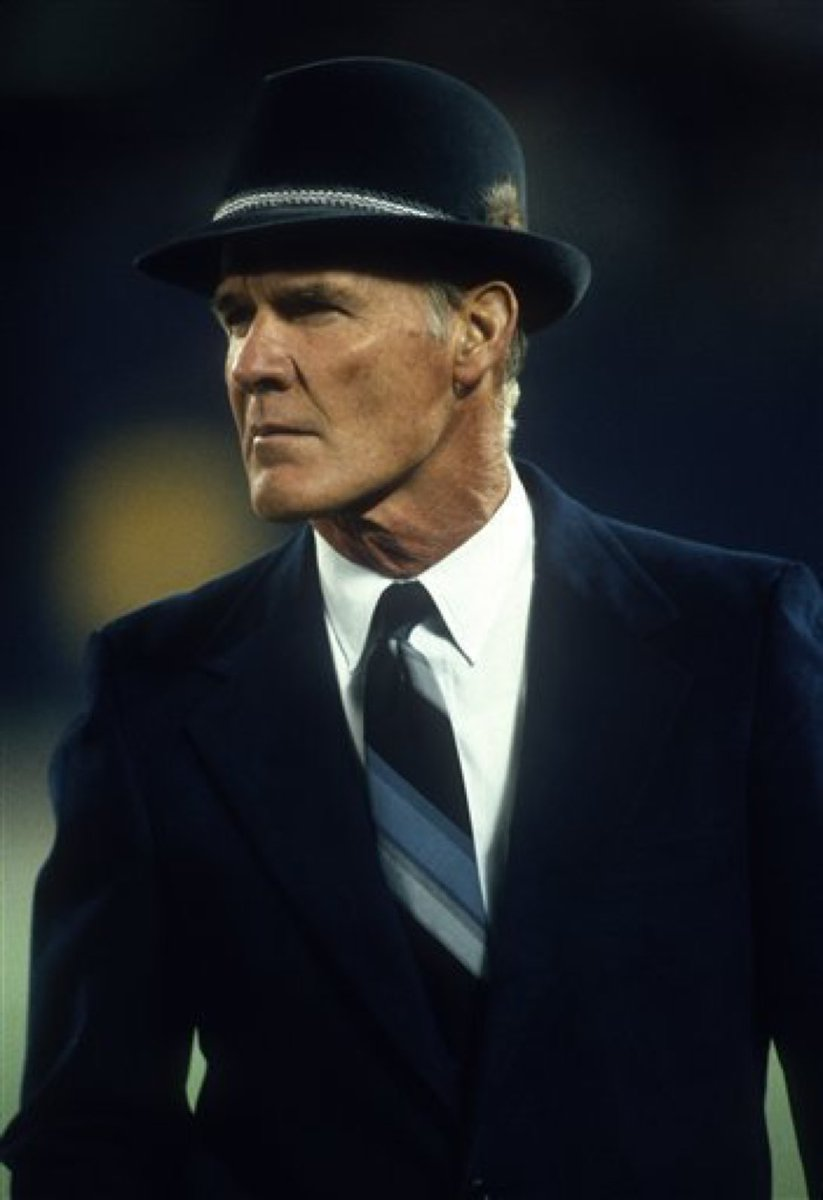 Tom Landry used to blow out the candles on his birthday cake each year simply by looking at them.