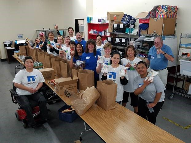 NetAppers packaged 650 bags of groceries in under two hours! Thank you to everyone who participated, to @sunnyvaleserv and to Margaret Mannion for coordinating this volunteer opportunity! #NetAppServes #GiveBack @NetApp