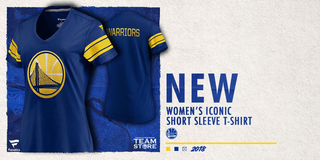 Ladies, check out he @warriors Iconic T-Shirt from @Fanatics 🏀 Complete your Dubs Collection in Style & Comfort! 🛒-–>bit.ly/DubsIconic #GSW #Womens #Style #NBA #Warriors