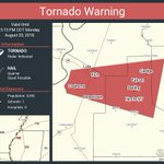 Image for the Tweet beginning: Tornado Warning continues for Jonestown