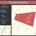 Image for the Tweet beginning: Tornado Warning continues for Sledge