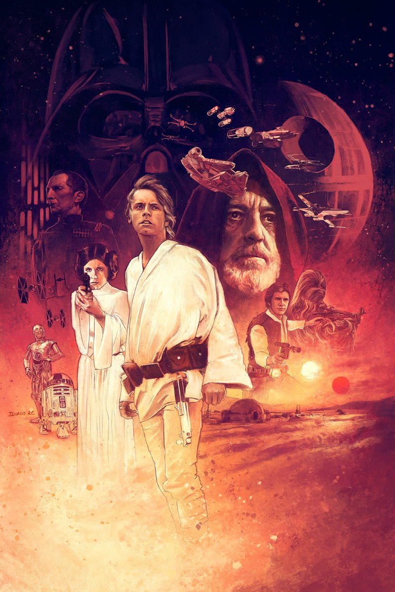 Star Wars Episode Iv A New Hope Alternativemovieposter Ignaciorc Search By Muzli