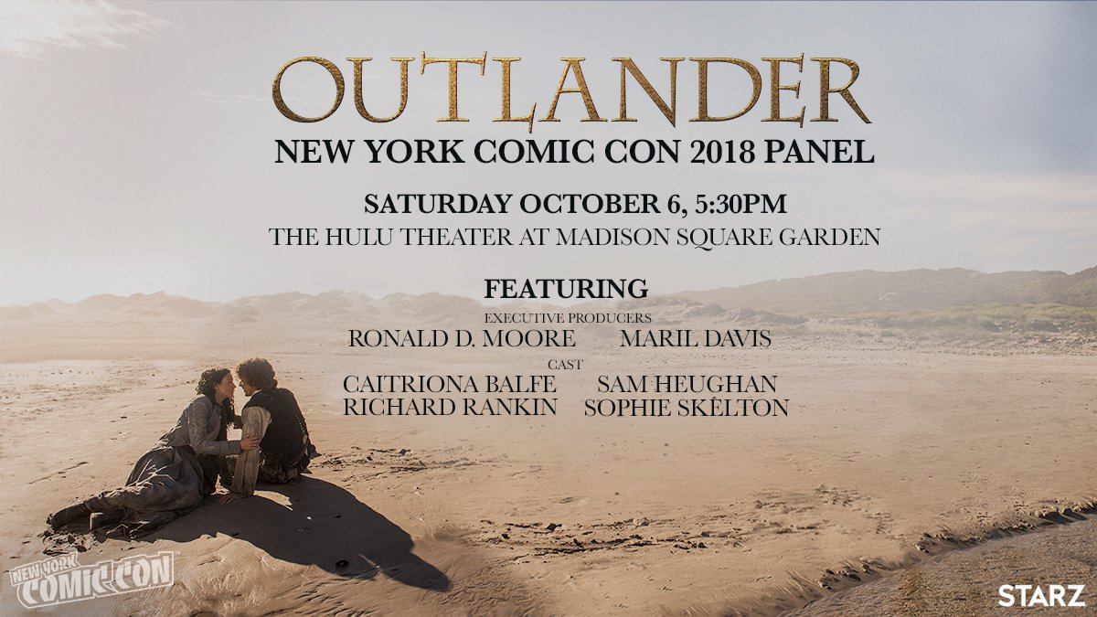 OUTLANDER Panel At NY Comic Con Oct 6