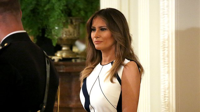 Melania warns social media can be 'destructive and harmful' https://t.co/UUMrx0gyGR https://t.co/BDAB2kS6no
