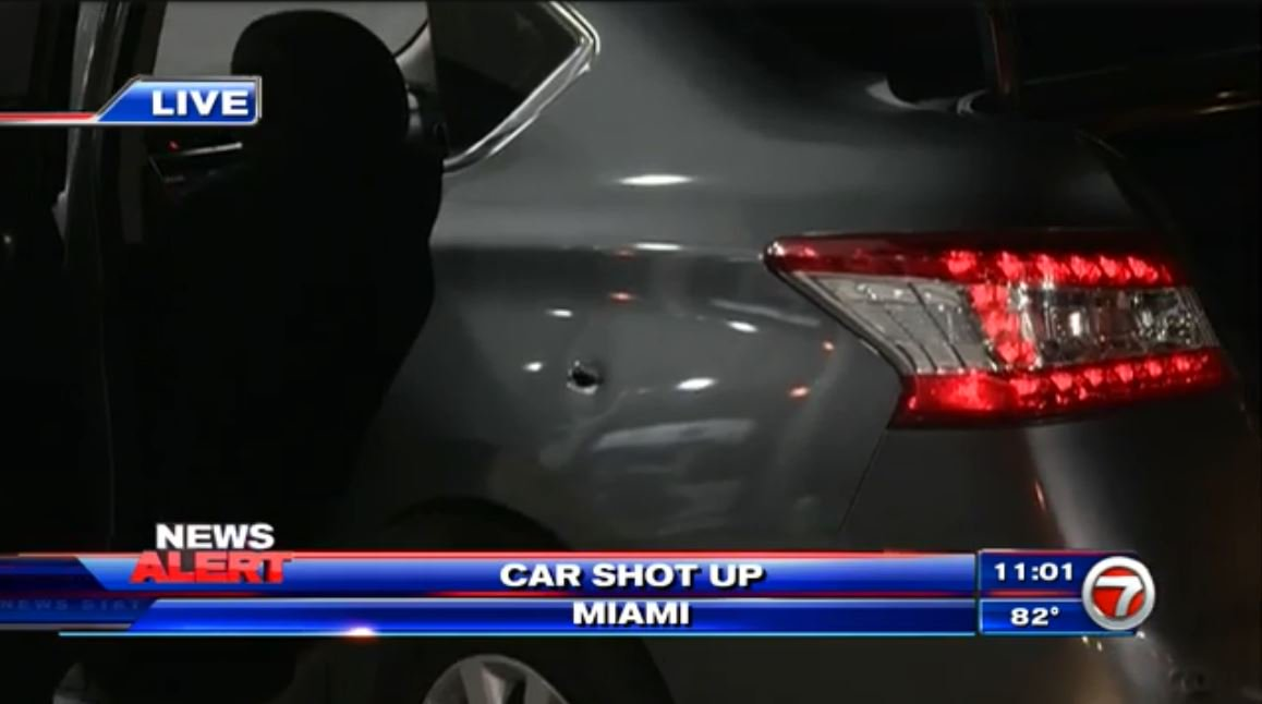 #DEVELOPING: Police investigate bullet-riddled car at Miami gas station; driver OK https://t.co/lucjwj8e9A