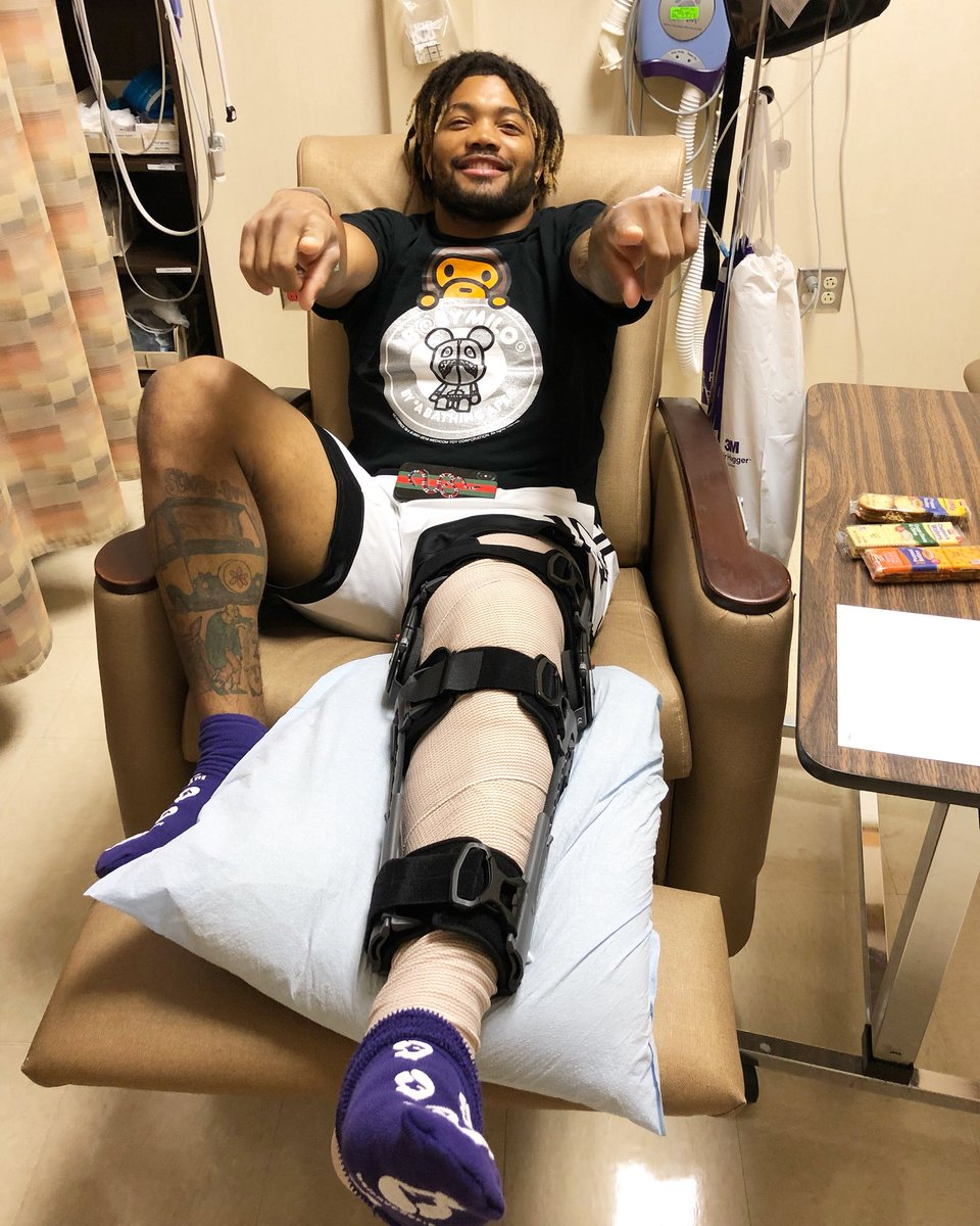Derrius Guice shares before and after ACL surgery photos
