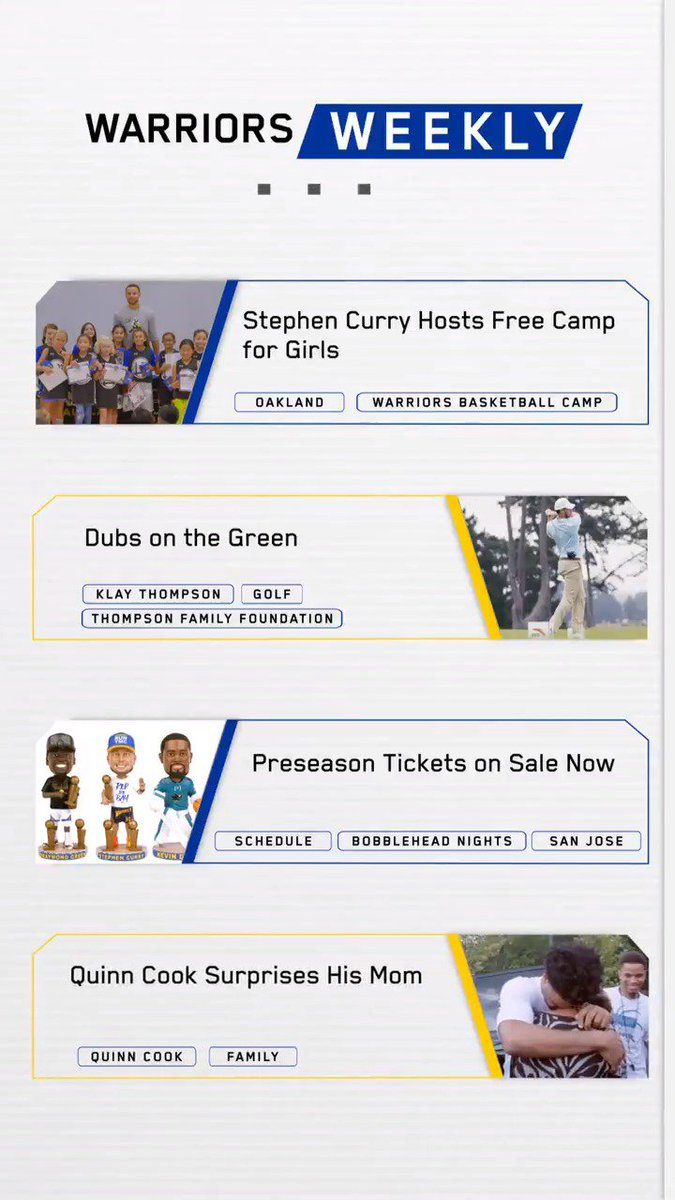 What have the Dubs been up to lately? Find out in the latest edition of Warriors Weekly 👀