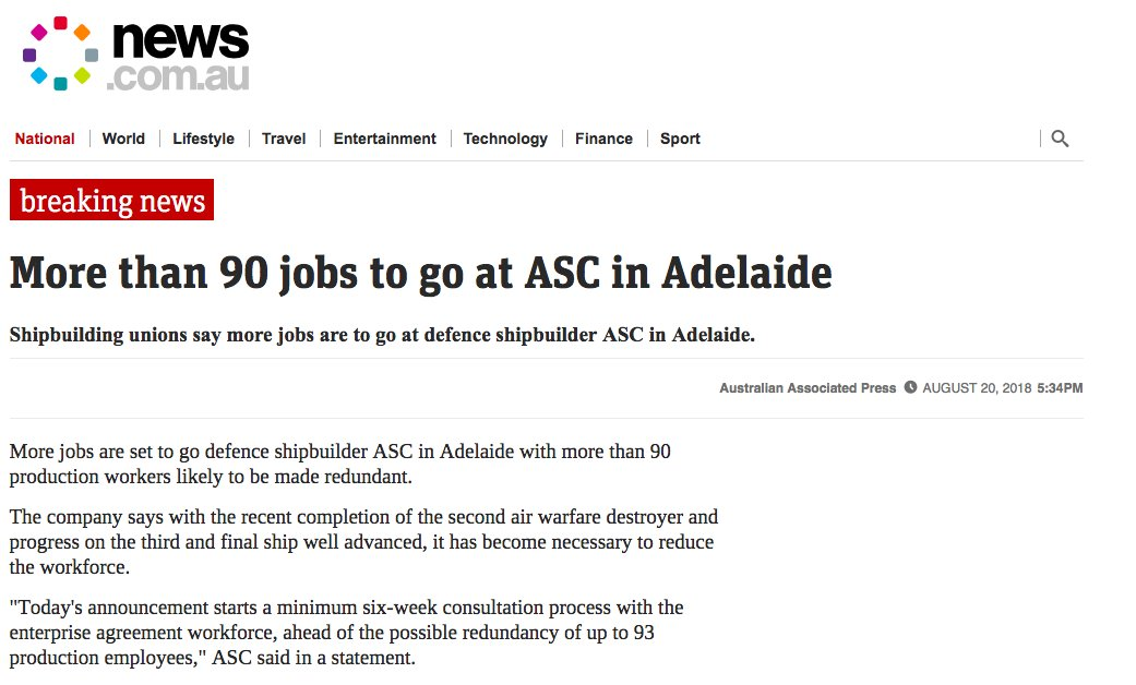 The Amwu On Twitter Here Are 90 Shipbuilding Workers In Adelaide