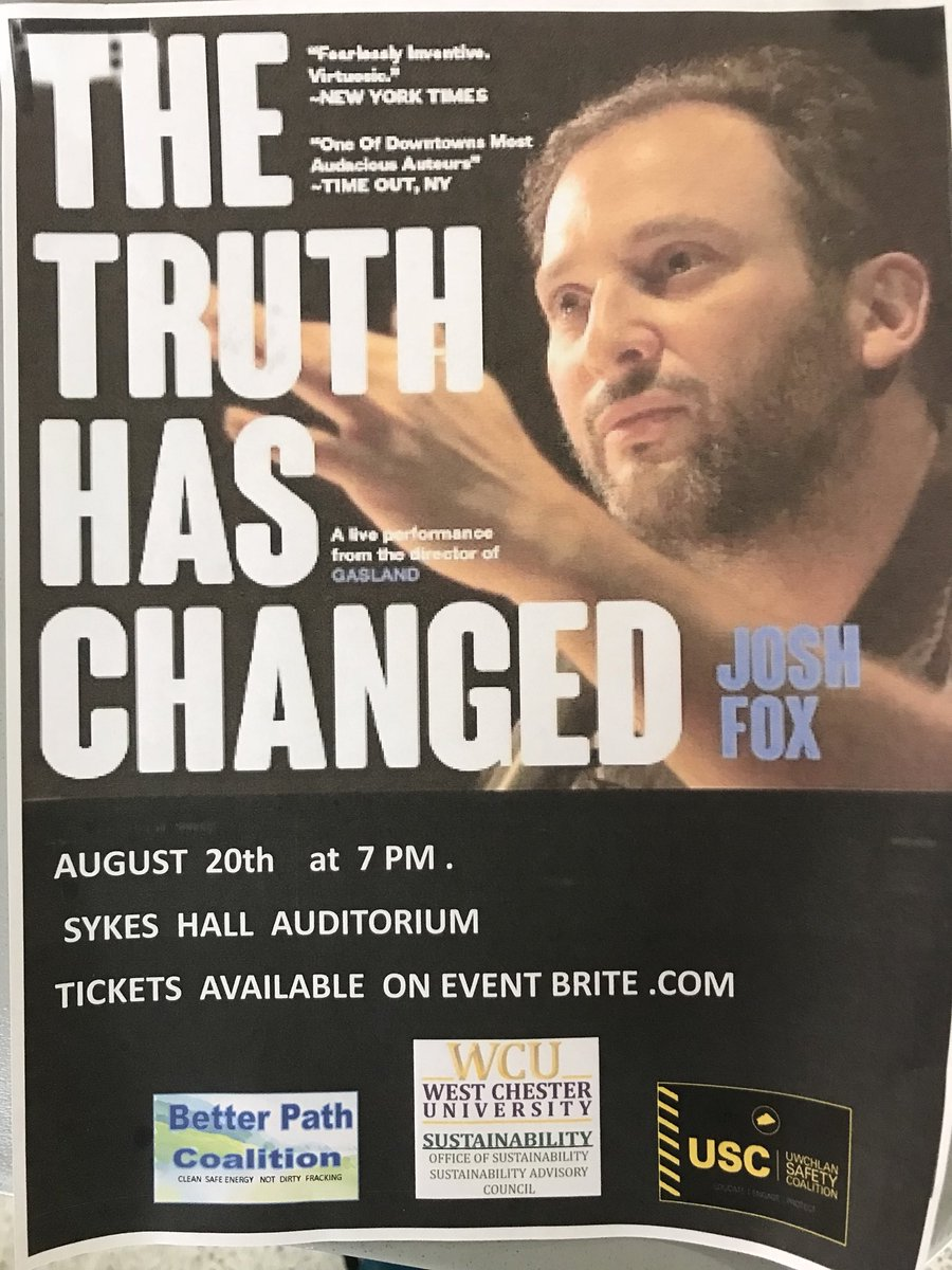 Happening now at @WCUofPA! Not too late to join us!l at Sykes Student Union with @joshfoxfilm!