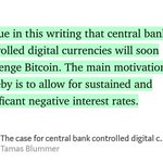 """Image for the Tweet beginning: """"The case for central bank"""
