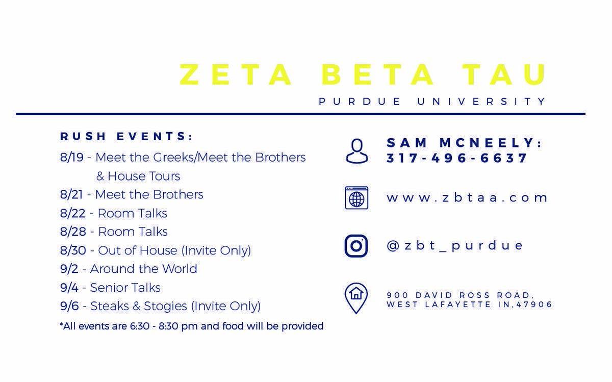 Zeta Beta Tau Purdue At Zbtpurdueaa Twitter