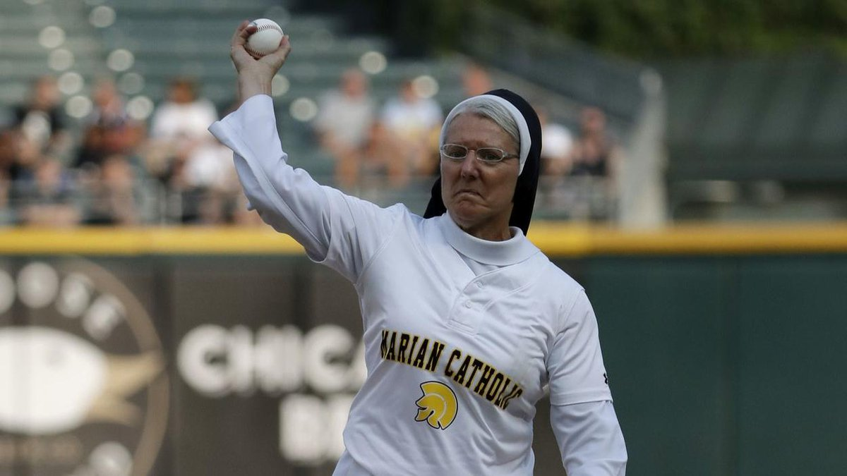 Sister Mary Jo — she of the viral ceremonial first pitch — now has her own bobblehead trib.al/lVRPFPZ