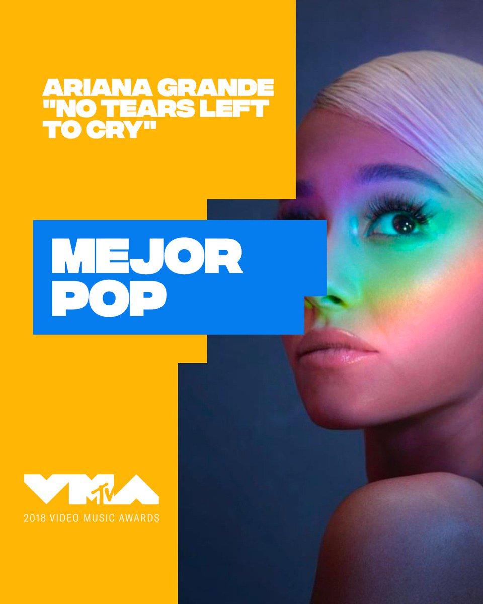 ¡La gente ha elegido! 🔝🔝🔝 ¡@ArianaGrande es nuestra Mejor Pop!💘 #VMAs