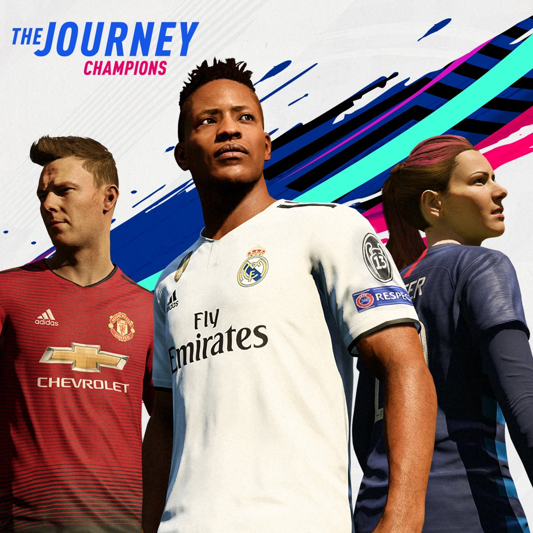 Three characters, one common goal. Become a champion. https://t.co/jzN0DKyGUq #FIFA19 #TheJourney https://t.co/pzz4S7cLvo