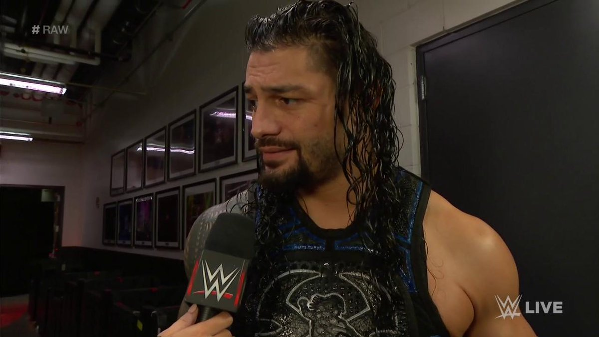 A hungry @FinnBalor, a lurking @BraunStrowman, it doesnt matter... @WWERomanReigns aint scared! #RAW #RomanReigns