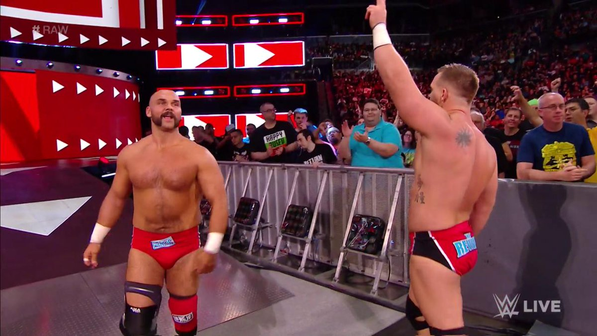 .@TheBoDallassays its ok that he and @RealCurtisAxellost their singles matches against #TheRevival because they are STILL the #Raw Tag Team Champions!