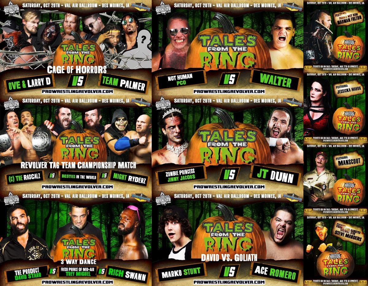 We still have more to announce! #TalesFromTheRing2 10/20 JOIN US in DES MOINES, IOWA! TIX: ProWrestlingRevolver.com/tickets (Front Row SOLD OUT, under 20 Second Row left!)