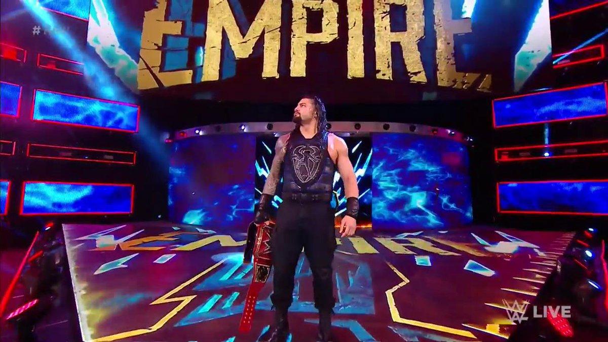 Its his empire. Its his yard. Its HIS #UniversalChampionship! #RomanReigns #RAW @WWERomanReigns