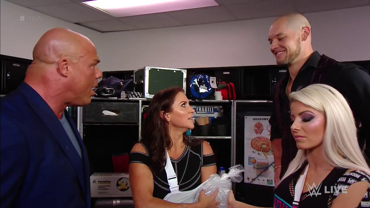 Does @RealKurtAngle need a vacation?! @StephMcMahon sure thinks so, and she just made Constable @BaronCorbinWWE the ACTING General Manager of #RAW!