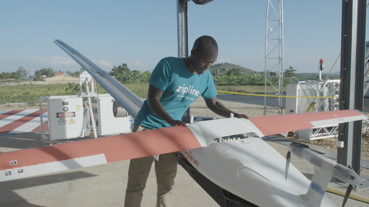 This 27-year-old is launching drones that deliver blood to Rwanda's hospitals https://t.co/STm2Utqtck