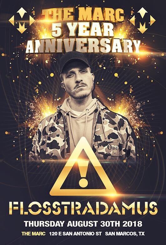 ⚠️⚠️ TICKET GIVEAWAY ⚠️⚠️ Giving away a Pair of Tickets for @FLOSSTRADAMUS w/ @CRIZZLY For @TheMarcSM 5 Year Anniversary Show❗️❗️❗️❗️🌹🌹🌹🌹 To Enter: Retweet/ Like This Tweet.. Must follow: @AfterDarkTexas @C4_Music Winner Picked 8/24💙