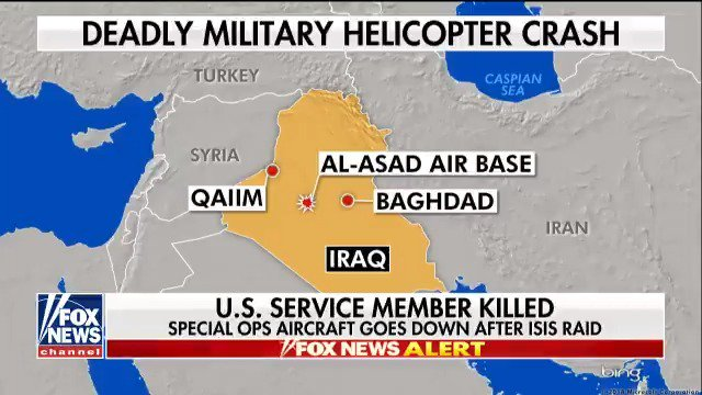 Special ops aircraft goes down after ISIS raid https://t.co/IkgTHLlA5N