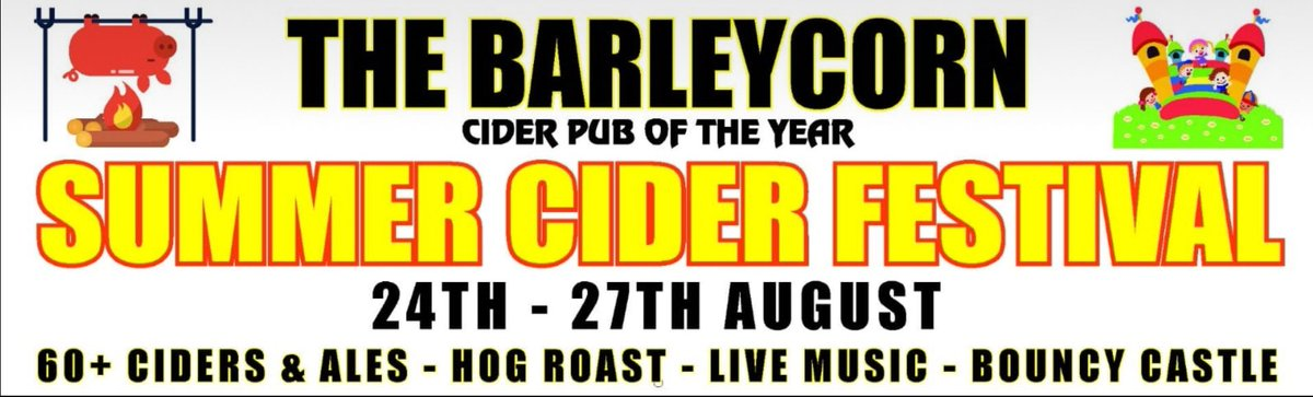 We are pleased to announce that The Barleycorn Pub in Cippenham are one of our club sponsors for this season.   For award winning beer, ales &amp; ciders get yourself down there this Bank Holiday weekend for their Summer cider festival @Robs_Sport @HellenicLeague @hellenicupdates<br>http://pic.twitter.com/BBiJLTKP5d