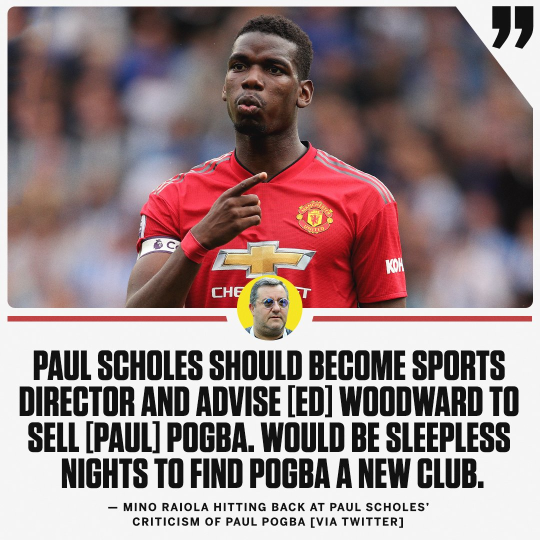 Paul Pogbas agent hits back at Manchester United legend, Paul Scholes. 😳 Full story: es.pn/2OOLmcG