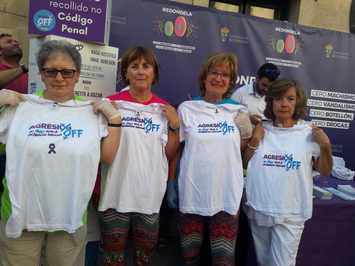 Este fin de semana estivemos no Entroido de verán de Redondela co stand da Campaña Agresión OFF: Eu digo non á violencia sexual