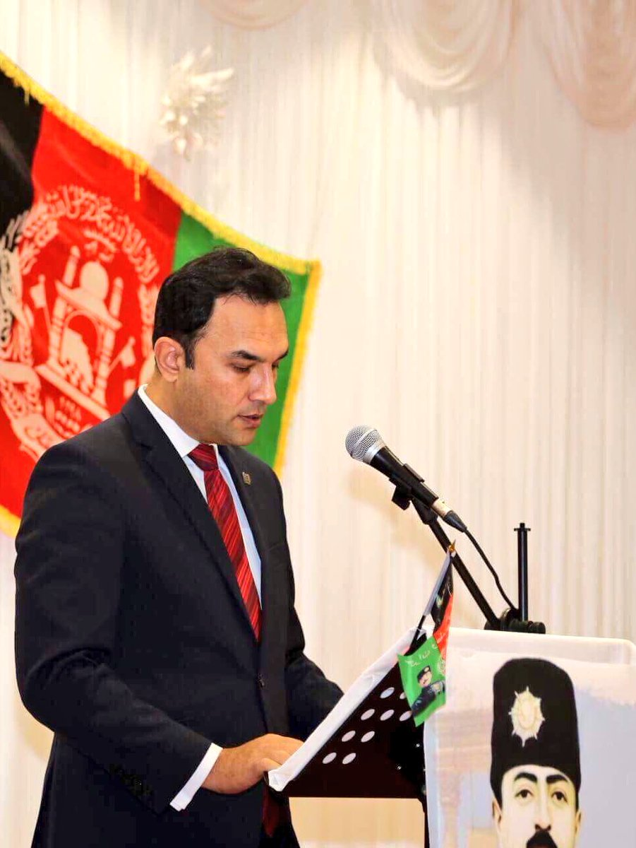 Ambassador @WahidWaissi calls on #Afghan communities in Australia & New Zealand to support the victims and affected families of the recent terrorist incidents in Ghazni and Kabul, during his remarks at the 99th Anniversary of Afghanistan's Independence Day in @greaterdandy