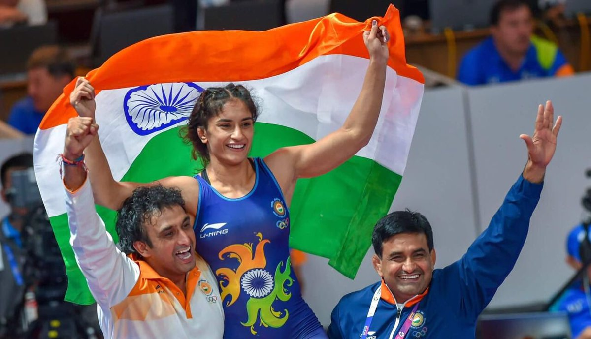 Phenomenal feeling to see all the hard work, sweat, and long hours spent on the mat paying off! Nothing can match the feeling of winning a Gold for #India and all the wonderful people of our country whose blessings and wishes give me strength 🇮🇳💪🙏🥇