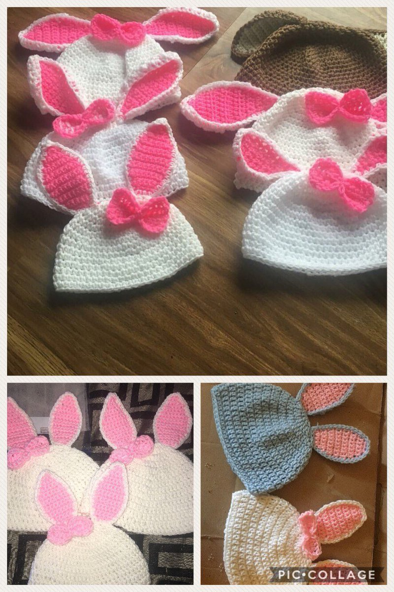 bfae8a0d4bd Excited to share this item from my  etsy shop  Bunny hat  crochet  follow   etsyshop  etsyseller  craftsposure  ABMCrafty  love  usa  accessories  hat  ...