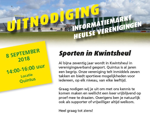 Informatiemarkt: Heulse verenigingen presenteren zich op 8 september https://t.co/XGcWmYAQtU https://t.co/wRFlHghegb