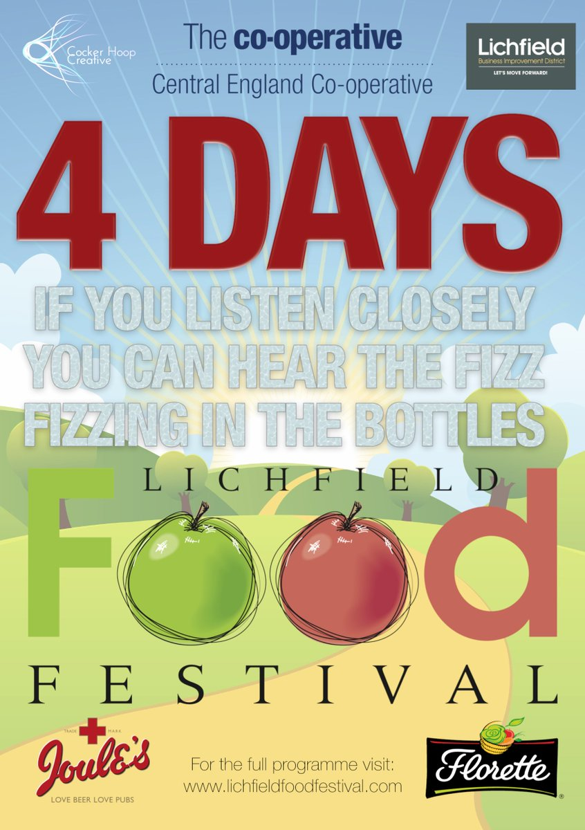 From Prosecco to Pimms From Gin to Ginger Beer From Real Ales to Rums From Wines to Whiskeys From a tipple to a treat From a cold one to hot one From a long one to a short one In 2018 Lichfield Food Festival has just about anything in a glass! (Plus lots for the drivers too!)