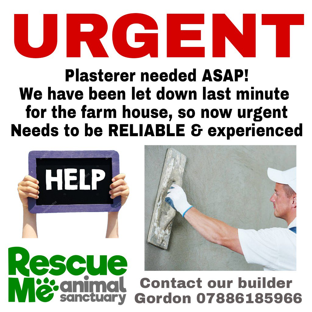 URGENT APPEAL!!! We urgently need some quotes & plastering doing as our renovations have now ground to a halt! Please contact Gordon our builder for job details! #CharityTuesday #Plasterer #TuesdayThoughts #Builder #Liverpool #localbusiness