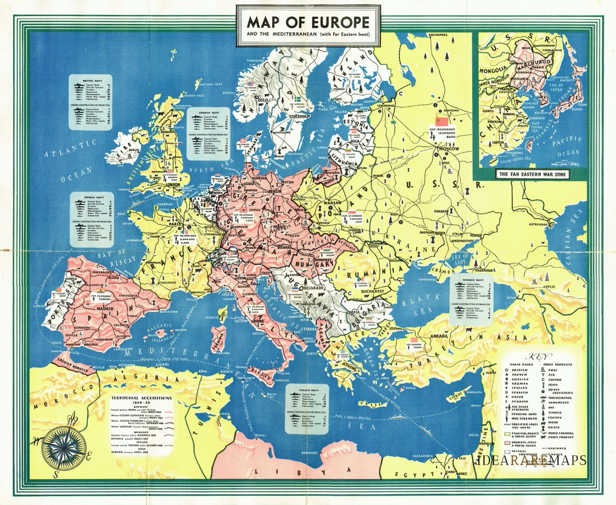 Map Of England France And Italy.Idea Rare Maps On Twitter A Separate 1939 Map Of Europe And