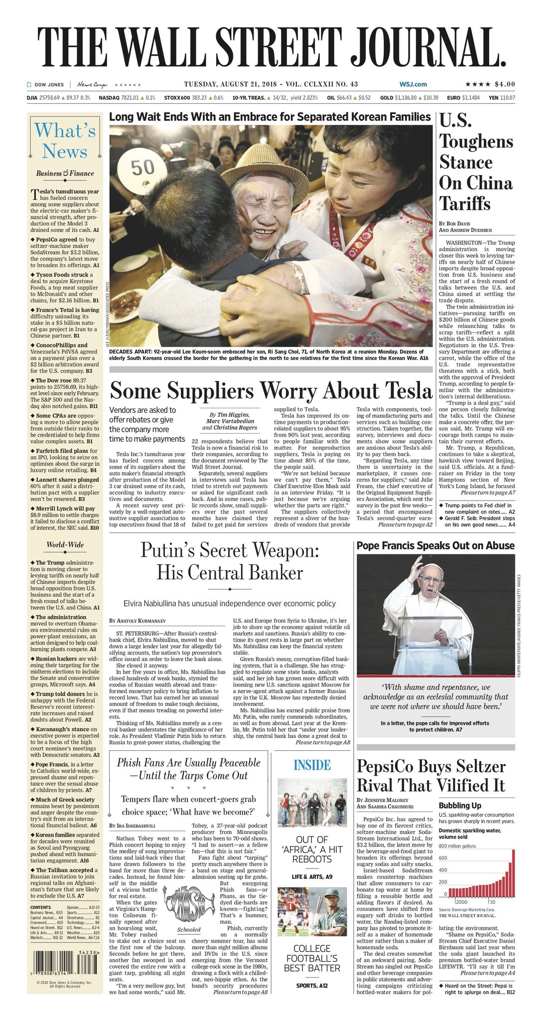 Take an early look at the front page of The Wall Street Journal https://t.co/5xQPDPcm8q https://t.co/14p5rbhBos