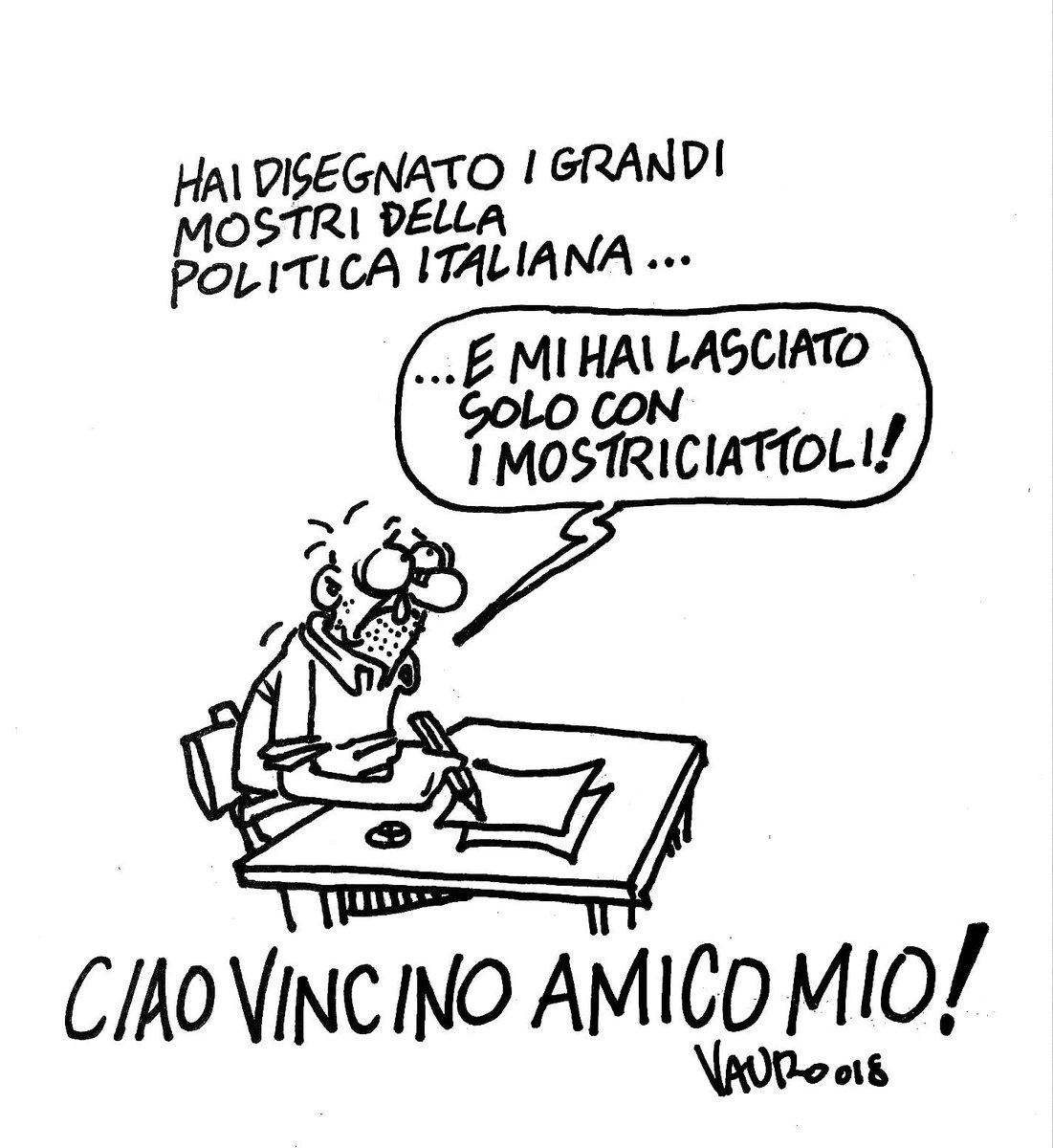 Addio a Vincino, vignettista satirico di mezzo secolo di politica italiana