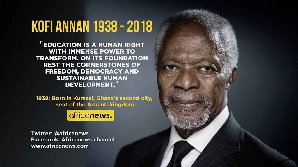 africanews on 🔸 quote of the day 🔸 kofi annan
