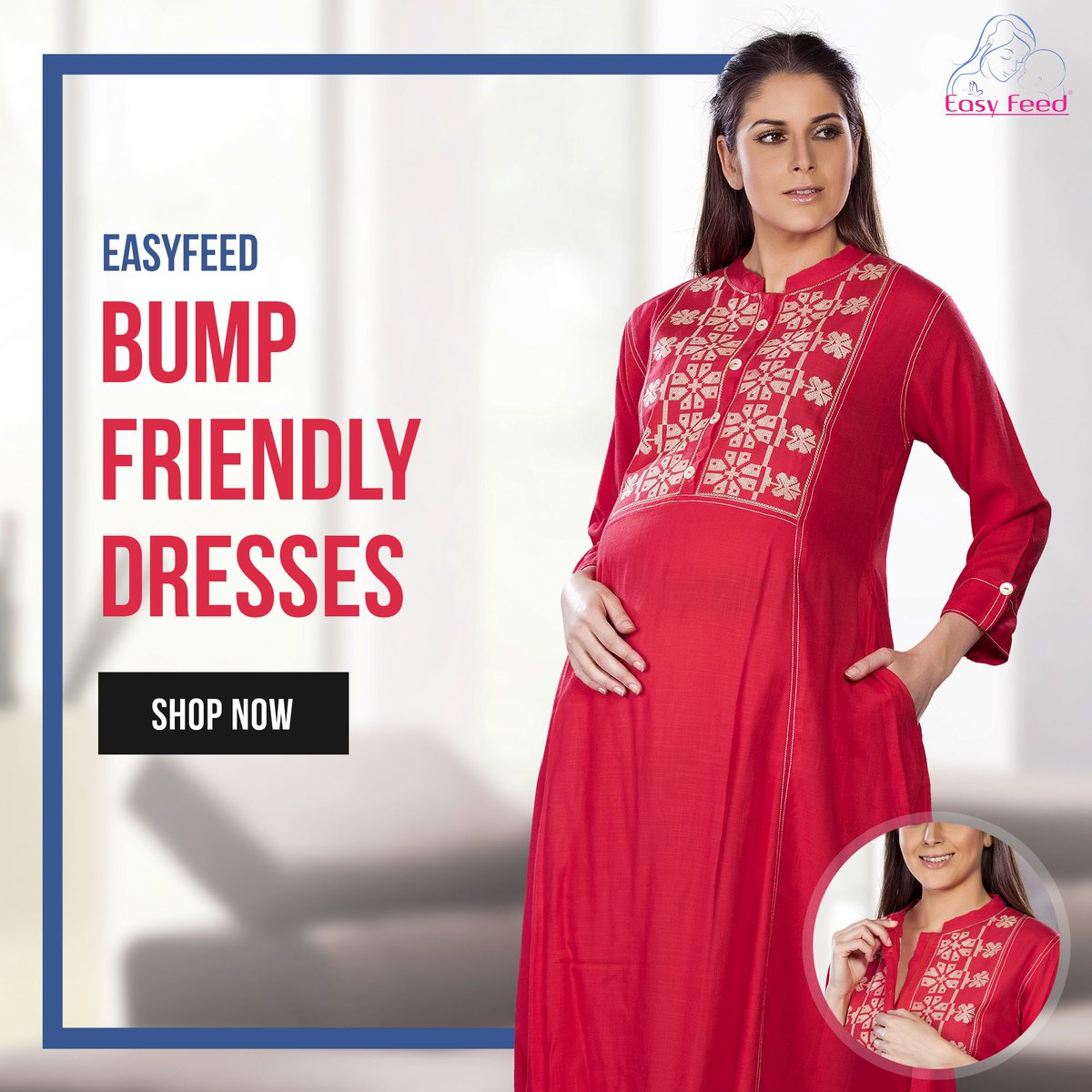 Bump-friendly dresses. Dresses that are designed to flatter your bump throughout your pregnancy. Shop the look on the Facebook store or visit our website http://www.easyfeed.in  #EasyFeed #momtobe #moms #maternitydresses #maternityfashion #maternitystyles #bumpfriendly #preggerspic.twitter.com/xW88N5QSKb