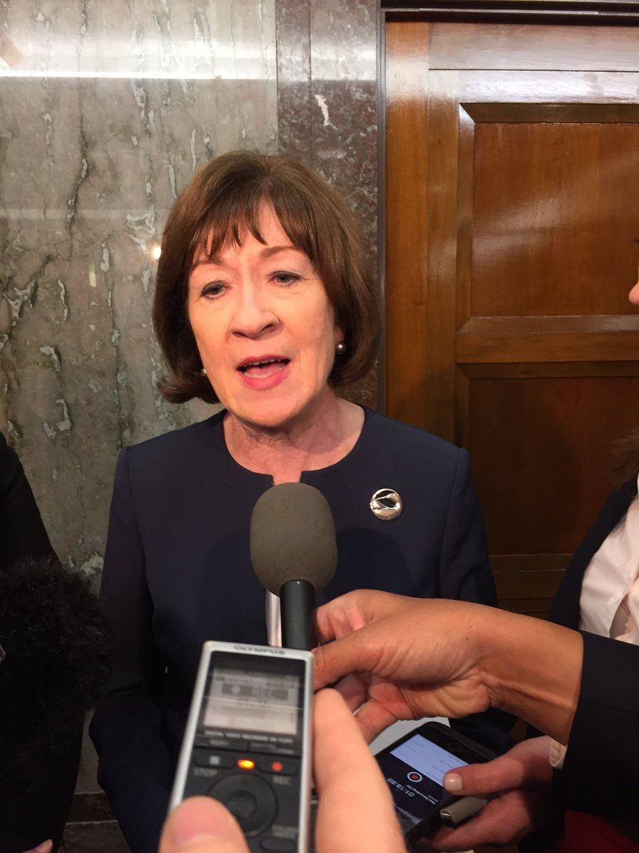 NEW BREAKING: Sen. Collins just said Kavanaugh told her he agrees w Roberts'  take on Roe V Wade - that it is settled law.