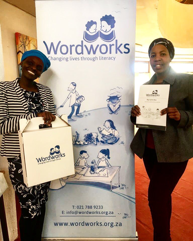 """Our Unogwaja Langa team attended a training session by Wordworks called """"The Big Game Box"""" Workshop.   We will implement all these new games to help children in literacy in our projects in Langa.  #UnogwajaLanga #Unogwaja #BetterTogether  #Investing https://t.co/mr39XKes6b"""