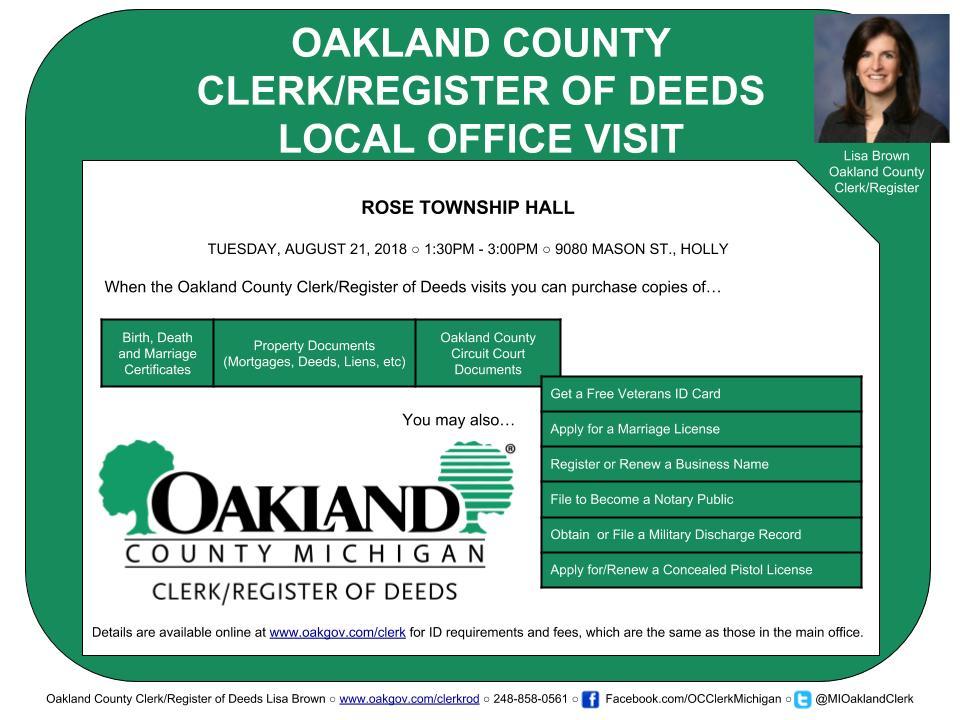 Mi Oakland Clerk Mioaklandclerk Twitter