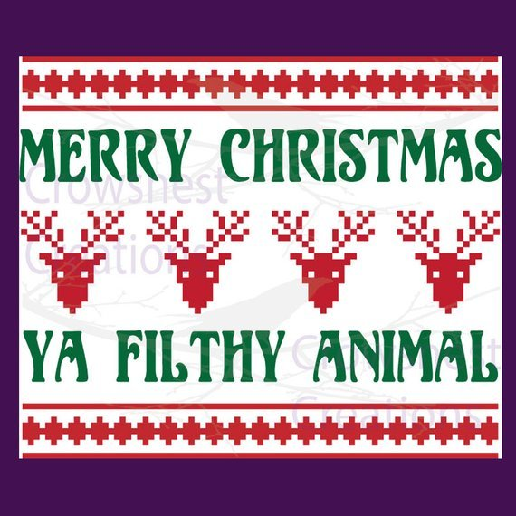 Merry Christmas Ya Filthy Animal Svg.In The Minouette Shop Vector Ya Filthy Animal Merry