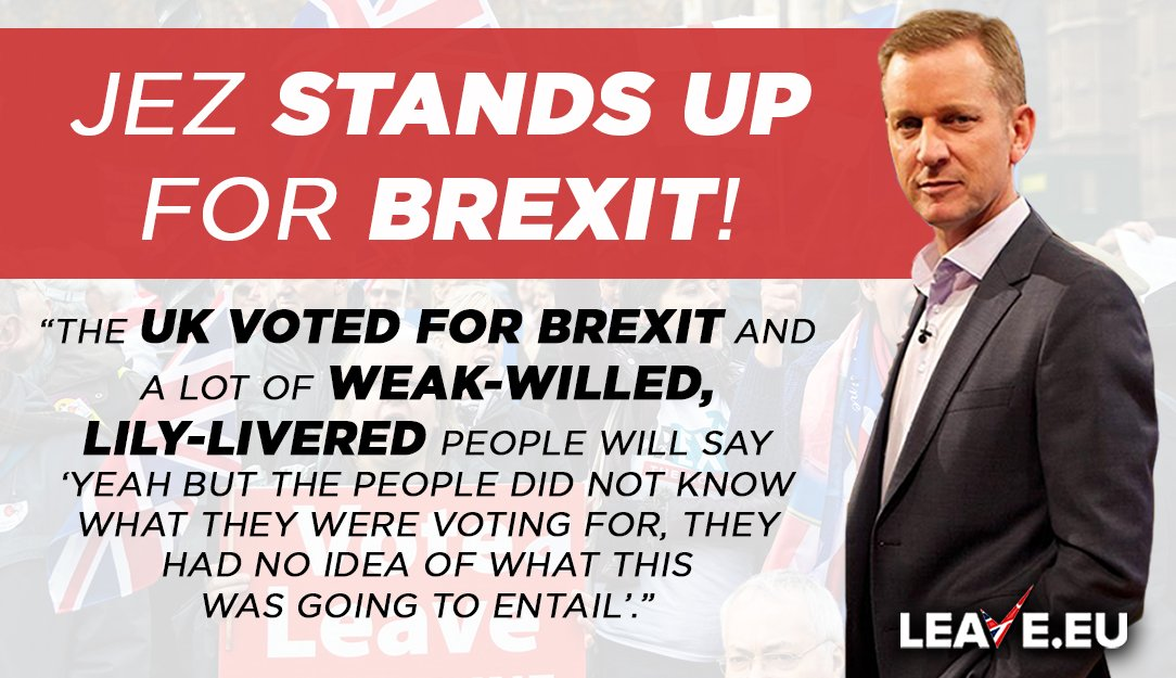 """New Talk Radio host Jeremy Kyle stands up for Brexit and defends Nigel Farage: """"At least you have the conviction to stand up and say what you feel Nigel. Why dont more politicians do that?"""" 👍 🙋♂️ Support us at leave.eu/get-involved"""
